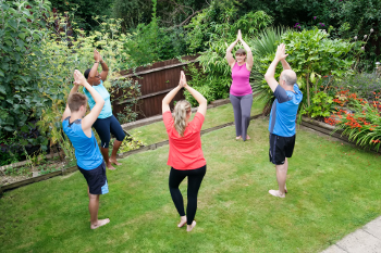 Dru yoga works on body mind and spirit improving strength and flexibility creating core stability